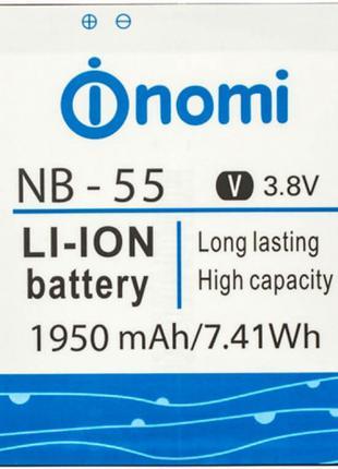 Аккумулятор на Nomi i505 NB-55 3.8V 1950 mAh