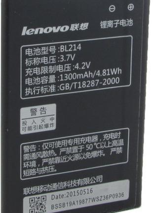 Аккумулятор для Lenovo A316 - BL214 1300 mAh