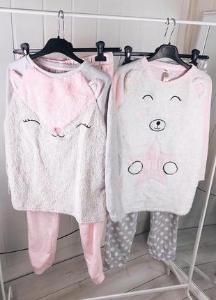 Женская флисовая пижама софт