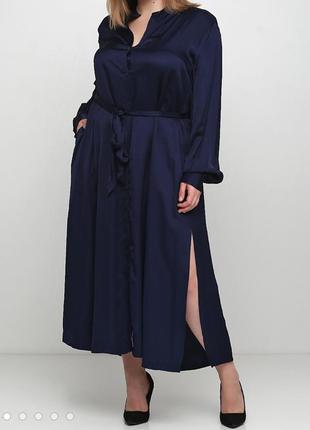Стильное и удобное платье рубашка h&m на пуговицах