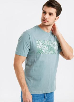 Мужская футболка lc waikiki / лс вайкики с лиственным принтом ...