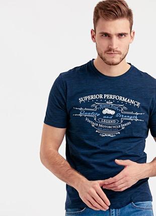 Синяя мужская футболка lc waikiki / лс вайкики superior perfor...