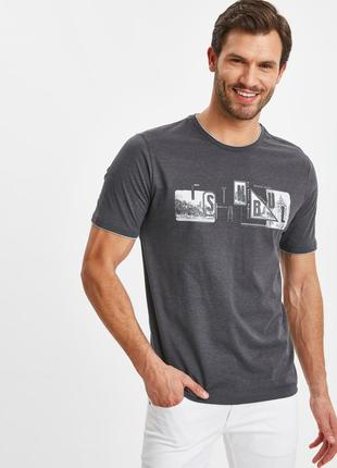 Серая мужская футболка lc waikiki / лс вайкики istanbul