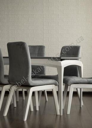 Комплект обеденный стол и стулья. Кухонний стіл розкладний та ...
