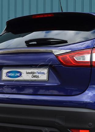 Nissan Qashqai (2014-) Накладка над номером на багажник