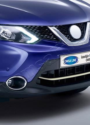 Nissan Qashqai (2014-) Накладка в передний бампер