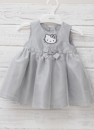 Праздничное платье h&m hello kitty для девочки