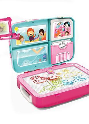 Обучающий набор для рисования РОЗОВЫЙ backpack packing 3in1 (18)