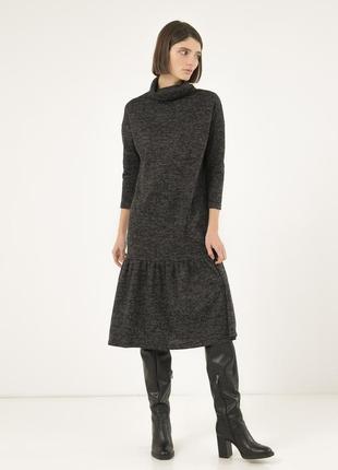 Удобное платье на каждый день season темно-серое