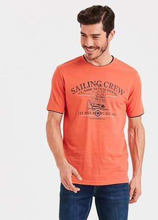 Коралловая мужская футболка lc waikiki / лс вайкики saling crew