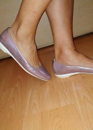 Балетки туфли 43 р кожаные большой размер