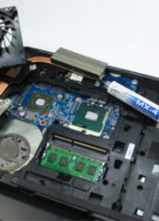 Чистка компьютера от пыли и замена термопасты, вентиляции