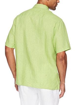 Яркая льняная рубашка 100% лён размера m