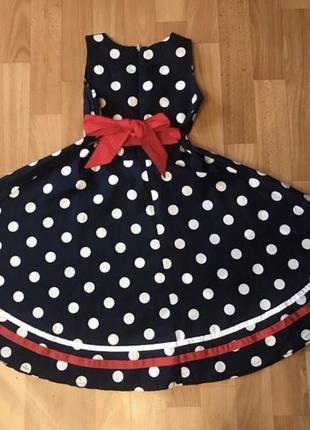 Нарядное платье в ретро стиле на 8 лет