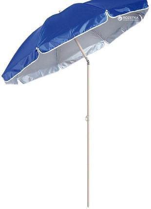 Пляжный зонт с наклоном 2.2м, клапан от ветра, напыление, спиц...