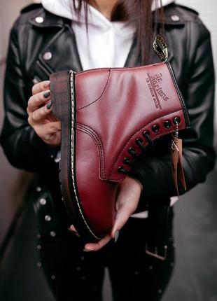 Ботинки женские зимние мартинсы🌹dr martens cherry red🌹с мехом,...