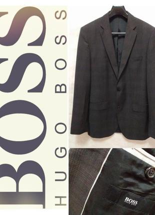 Hugo boss брендовый приталеный однобортный пиджак