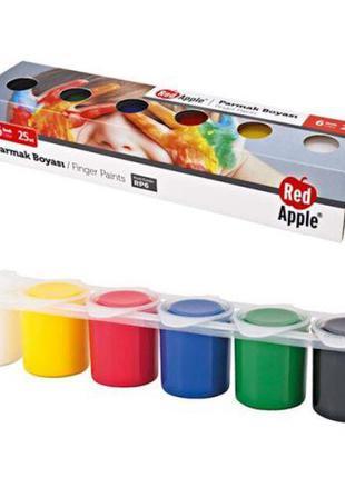 Краски пальчиковые, 6 цветов RP6 [kra143910-TSI]
