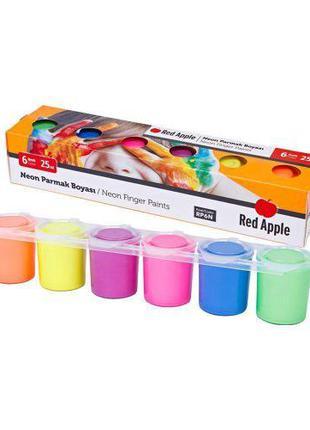"""Краски пальчиковые """"Неон"""", 6 цветов RP6N [kra143911-TSI]"""