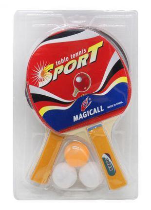 Набор для настольного тенниса (2 ракетки и 3 шарика) BT-PPS-00...