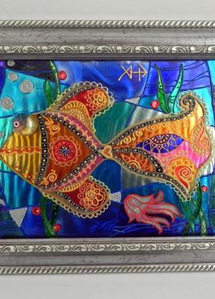 Панно-сувенир «Русь-Рыбка»