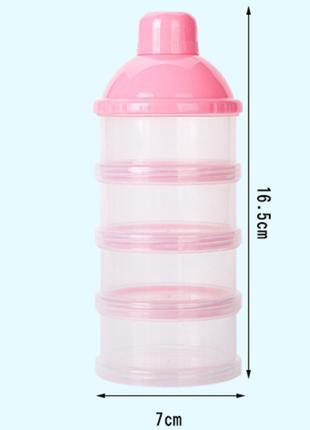 Контейнер для хранения детских смесей прозрачный, Belove Pink ...