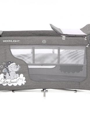 Кровать-манеж Lorelli Moonlight 2L Серый (MOONLIGHT 2 LAYERS G...