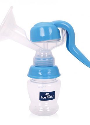 Ручной молокоотсос Lorelli с бутылкой 120 мл Синий (Молокоотсо...