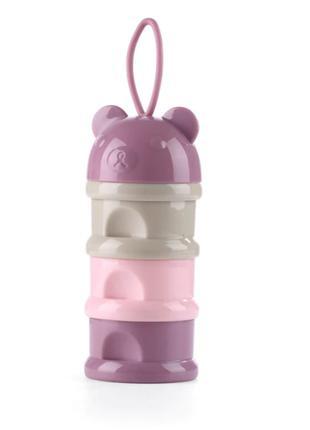 Контейнер для хранения детских смесей (3 деления) Pink Bear, B...