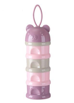 Контейнер для хранения детских смесей Pink Bear, Belove
