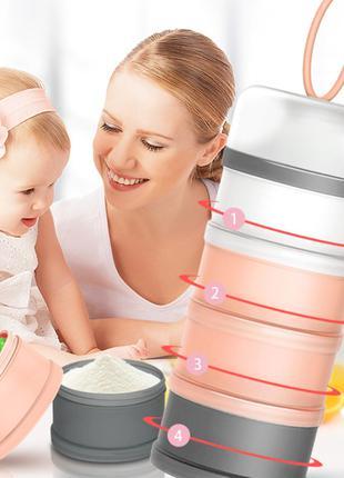Контейнер для хранения детских смесей Cloudy Pink, Belove