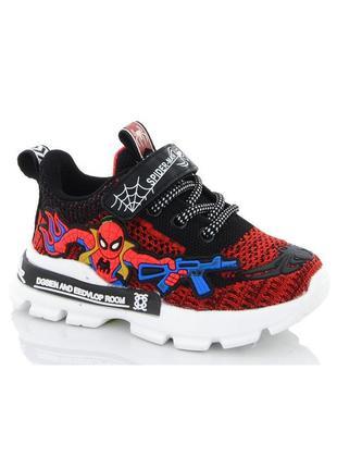 Детские красные текстильные кроссовки для мальчика spider man ...