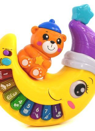 Мешок игрушек + музыкальный месяц ночник. См. описание