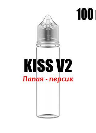 Ароматизатор KISS V2 пищевой 100 мл 0 мг, Папая - персик