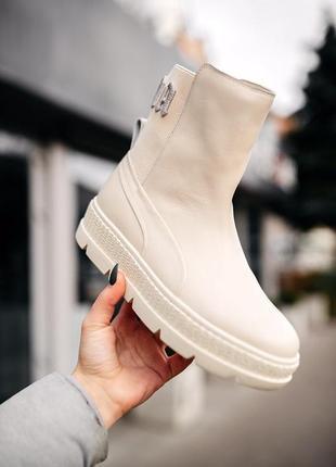 😍женские сапоги/ботинки пума😍puma by rihanna sneaker boot, бел...
