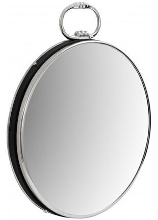 Настенное зеркало Kayoom Round 425 Silver/Black 51 см