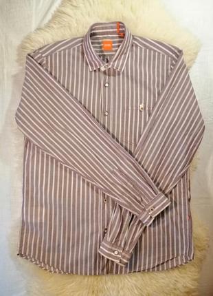 Рубашка hugo boss в полоску с длинным рукавом m
