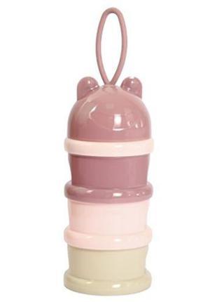 Контейнер для детских смесей розовый