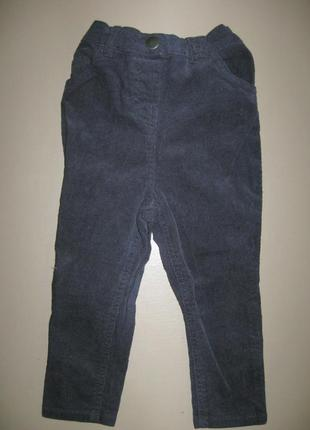Брюки вельветовые узкачи george 1.5-2 года 86-92 рост штани