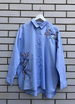 Рубашка с вышивкой большого размера батал george