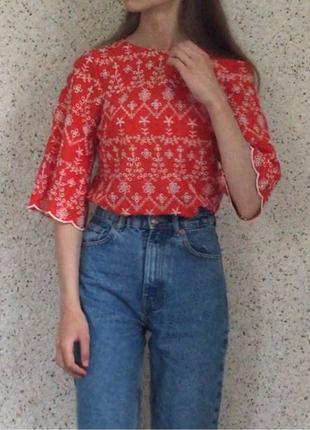 Красная блуза от Primark XS