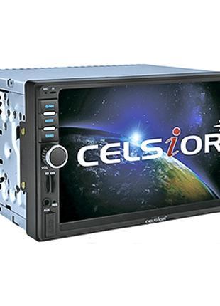"Автомагнитола Celsior CST-6505G 2-din 7"" черная GPS, Bluetooth"