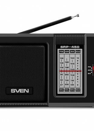 Портативная колонка Sven SRP-450 + радио черная