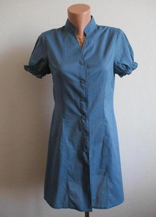 Sale -50%! хлопковое платье-рубашка на пуговицах la vie