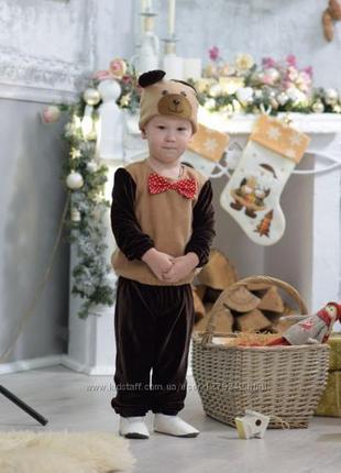 Новогодний костюм для мальчика медведя, мишки, размер 4-5 лет