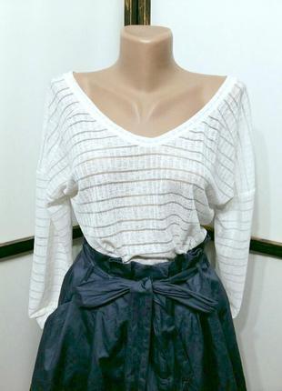 Нарядная белая блуза кофточка реглан бренд next