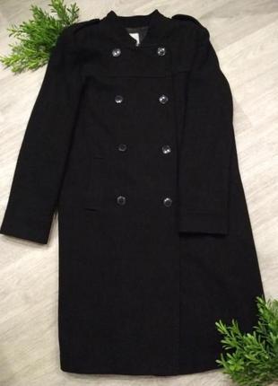 Теплое шерстяное пальто gap