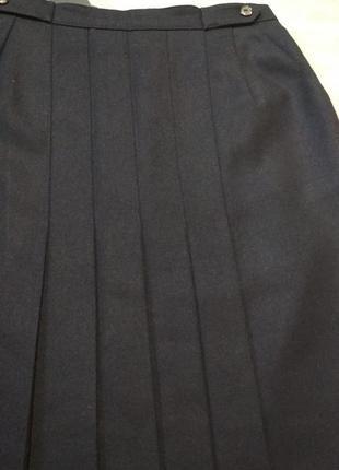 Длинная винтажная юбка  в скадку alexon ,100%шерсть