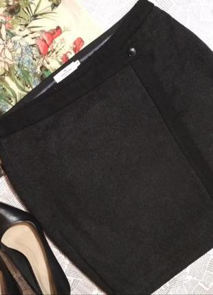 Классная шерстяная юбка tom tailor