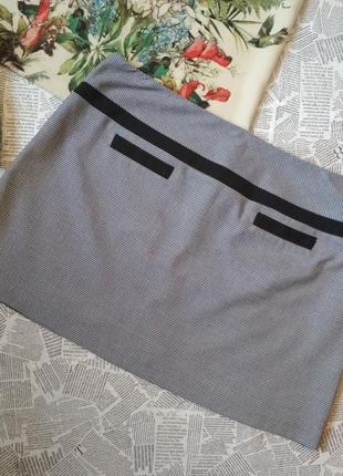 Стильная юбка в гусиную лапку oasis